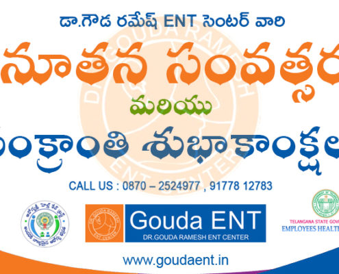 Dr.Gouda Ramesh ENT Center Wishing you all a very happy new year and sankranthi